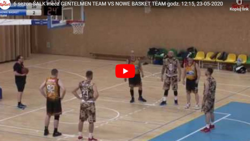 6 sezon ŚALK mecz GENTELMEN TEAM VS NOWE BASKET TE